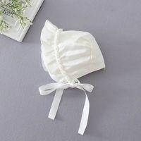 baby sun rose - Baby Sun Princess Hats strap windproof cap Newborn Girl Pearl Rose Flower Caps M