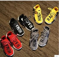 autumn racing fashion - Fashion Children NMD Human Race Casual Knit Shoes kids sports shoes Breathable Light Soft Flats for girls boys shoes Lazy Shoes