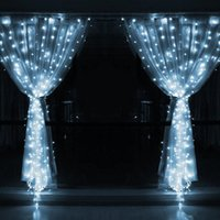 Wholesale IMPopular led Ft Ft Christmas Curtain String Fairy Wedding Lights Led Curtain Lights for Home Windows Decorations