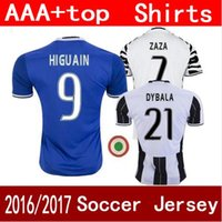 Wholesale New soccer jersey HIGUAIN home away DYBALA MARCHISIO MANEZUKIC top quality football shirt soccer jersey