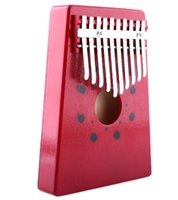 Wholesale Hot Sale Red Keys Kalimba Thumb Piano Traditional Musical Instrument Portable Great Gift