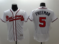 Wholesale 2016 hot white Atlanta Braves jerseys Freddie Freeman John Smoltz Maddux Jones drop ship mix order Stitched Name Number