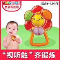 Wholesale AUBAY newborn baby rattle rattle flowers was years old newborn baby toys