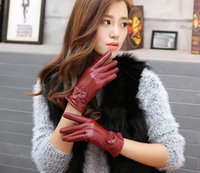 Cheap Finger Gloves Ms leather gloves Best Real Leather Woman Ms sheepskin gloves