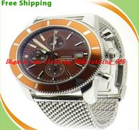 bb men - Luxury Men Watches Equipped original box Brand BB Super Diving A13320 Chronograph Orange Dial Bezel on bracelet Mens Men s Watch Watches