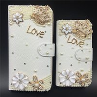 apple crowns - Fashion Luxury Man made Diamon Bling Case Metal Crown Flip PU Leather Cover Cases For iPhone Plus Samsumg S4 S5 S6 S7 edge Plus