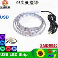 background cool - 2016 New V USB Cable LED Strip Lights SMD cm cm cm Flexible Led Strip Light Mini Controller TV Background Lighting