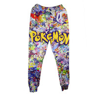 baggy track pants - 2016 Fashion For Men Women Baggy Jogger Pants D Print Poke Pikachu Cartoon Track Running Sweatpants Hip Hop Trousers