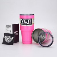 Wholesale DHL HOT OZ black YETI CUP stainless steel mugs white pink green blue orange red YETI