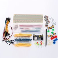 Wholesale Electronic Kit Breadboard Resistors LED Potentiometers Power Module Button Caps Single Pin Set Jumper Cables for Arduino