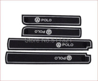 Wholesale For Volkswagen Polo Fifth generation Gate Slot Pad door cushion tank gasket noctilucent cup mat Auto Accessories