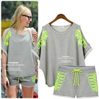 big baseball bat - spring and summer Europe big yards recreational bat loose strapless sweater sleeve shorts suit female