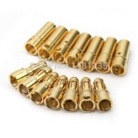 Wholesale pair Gold Plated Bullet Banana Connector Plug For ESC Battery Motor plug in insect killer
