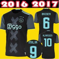 Wholesale new Ajax Away Black Soccer Jersey Ajax Maillot foot Klaassen MILIK SCHONE Football Shirts Bazoea camisetas de futbol Top Quality