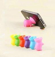 best suckers - Cute Pig Silicone Cell Phone Holder Creative Sucker Cellphone Stand Silica Gel Bracket Universal Desk Stent for iPhone Samsung Best Gifts