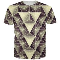 artistic breathable - Artistic design geometric triangle pattern d t shirt stripe splice t shirts women men hip hop tees summer style tee shirts tops