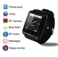 Wholesale Bluetooth Smart Watch Fashion Casual Android Watch Digital Sport Wrist LED Watch Pair For iOS Android Phone U8 U9 U80 Smartwatch
