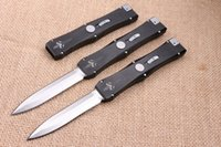 Wholesale High End Microtech Nemesis Tactical knife Double Action Spear Point Blade EDC Pocket Knife Survival Knives with nylon sheath