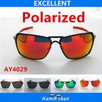 aluminum protection - O Kamachen Polarized REVO lens Black metal frame UV400 protection sunglasses glasses men women
