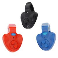 alarm buzzer sound - Outdoor Clip on Plastic Electronic Carp Fishing Alarm Bite Fish Finder Sound LED Alert Buzzer Tool Blue Red Black