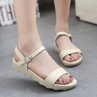 amazon sandals - amazon hot summer sandals goosegrass bottom flat with open toed sandals leather shoes antiskid buckles color matching comfortable shoes mot