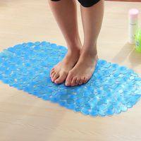Wholesale Bath Mats Sucker Oval Pebble Foot Pad Foot Massage Non Slip Bath Mats Tapis Bain Memory Foam Shower Mat