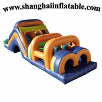 plastic playground - Factory sales mm PVC inflatable Obstacle Course inflatable indoor playground children playground