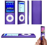 Wholesale Slim th GB Mp4 Player Hours Music Playing Time Colors FM Radio Video Player