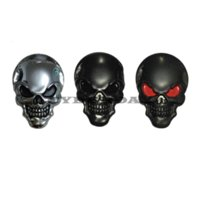 accessories large motorcycle - 8x5 cm Large D M Skull Metal Skeleton Crossbones Car Motorcycle Sticker Skull Emblem Badge car styling stickers accessories