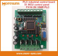 Wholesale Fast Free Ship PLC Chinese brand PLC industrial control board MCU control panel FX1N N MR PLC Learning Board PCB