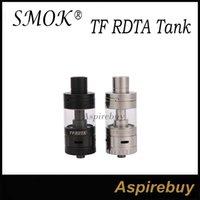 Smok TF-RDTA Tanque 5ML Capacidad con S2 Preinstalado Ranuras de flujo de aire laterales de la cubierta Diseño directo a bobina Base de cubierta Dos en una Estructura Auténtica
