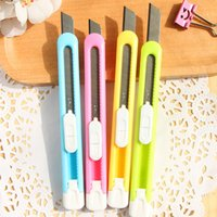 Wholesale Students pencil tool knife colors cute cutter letter opener stationery credit card knife cuchillo Z007