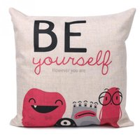 Wholesale Be yourself Letters Pattern Linen Throw Pillowcase Cushion Cover Home Sofa Car Decor