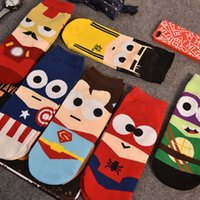 animated cartoon animals - Couples socks small size men and women socks socks spring summer boat socks animated cartoon superman low tide cute socks