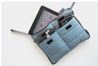 Wholesale DHL Portable Thick waterproof shockproof iPad Stuff Sacks Clutch large capacity travel storag bag four colors