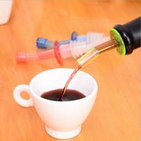Wholesale Hot Sales Bottle Pourer Pour Spout Stopper Dispenser Liquor Flow Olive Wine Oil Wine Stopper Set