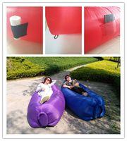 Wholesale New most Popular colors Lay Bag Air Bed Sofa inflatable air bags sleeping sofa beach air bag air sleeping bags