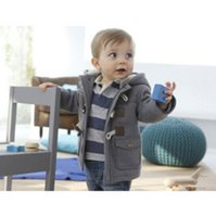 Wholesale Foreign hot money spring Childrens Boys coat children Baby Hooded windbreaker jacket dress button Star money