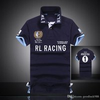 Wholesale 2016 Summer new air force one Fashion Racing Polo T Shirts Mens Short Sleeve Color M L XL XXL Cotton Embroidery NYPD Slim T Shirt