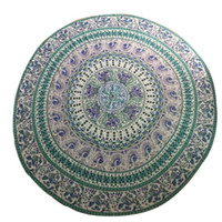 bath wall hangings - Breathable Round Flowers Mandala Wall Hanging Cloth Beach Towel Picnic Blanket