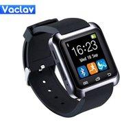 оптовых u9 умные часы-Выход фабрики Bluetooth Смарт Часы вскользь Android часы цифровой спорта наручные светодиодные часы пара для ОС IOS Android Phone U8 U9 U80 Smartwa