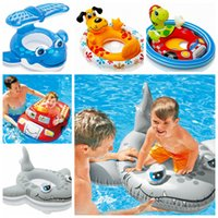 Wholesale Baby Kids Float Seat Boat Inflatable Swim Swimming Ring Pool Water Fun Intex Sit Pool Ride Beach Float Set Inflatable Pool Cruiser LJJK513