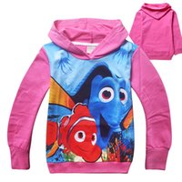 Wholesale Finding Dory Baby Girls Tops Cartoon Pattern Kids Hoodies Autumn New Long Sleeveless Printed Children Sweatshirts Fashion Hot Sell CX313