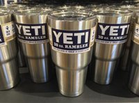 Wholesale 12oz oz oz Yeti Rambler with lid oz Lowball Stainless Steel Tumbler Cup Insulation Cup Bilayer Stainless Steel Tumbler Mug