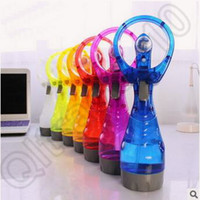Wholesale 48pcs LJJC4287 High Quality Candy Color Cooling Outdoor Portable Air Conditioning USB Handheld Pocket Summer Mini Fan Spray Water Mist Fans