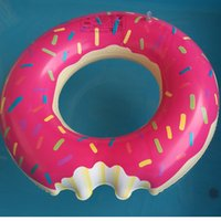 Wholesale 2016 new Donut Swimming Float Inflatable Swimming Ring cm pool for children Life buoy Beach Toys