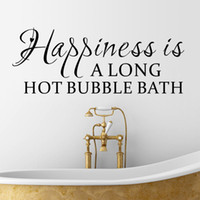 bath wall decal - Vinyl wall Sticker Happiness Is A Long hot Bubble bath Wall Decal Home Decor DIY Home Living room Bedroom Decoration
