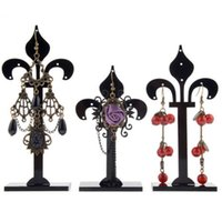 beauty display racks - 3 x NEW Beauty Black Acrylic Pmma Earring Jewelry Display Stand Holder Rack Set