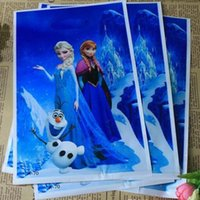 Wholesale New Christmas gift bag frozen Elsa Anna Pricess loot bags box plastic shopping souvenir bag packing package party decoration