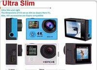 action sports design - H3 Dual Screen Action Camera G HD K inch Sport Camera waterproof cameras Same design gopro sport DV